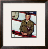 """Willie Gillis in Church"", July 25,1942 Framed Giclee Print by Norman Rockwell"