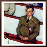"""""""Willie Gillis in Church"""", July 25,1942 Framed Giclee Print by Norman Rockwell"""