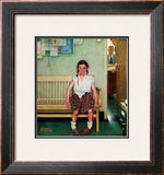 """Shiner"" or ""Outside the Principal's Office"" Saturday Evening Post Cover, May 23,1953 Framed Giclee Print by Norman Rockwell"