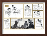 """Norman Rockwell Visits a County Agent"" B, July 24,1948 Framed Giclee Print by Norman Rockwell"