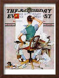 """Blank Canvas"" Saturday Evening Post Cover, October 8,1938 Framed Giclee Print by Norman Rockwell"