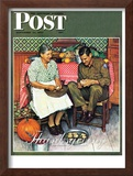 """Home for Thanksgiving"" Saturday Evening Post Cover, November 24,1945 Framed Giclee Print by Norman Rockwell"