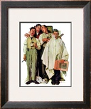 """Barbershop Quartet"", September 26,1936 Framed Giclee Print by Norman Rockwell"