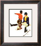 &quot;Thrown from a Horse&quot;, March 17,1934 Framed Giclee Print by Norman Rockwell