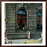 """University Club"", August 27,1960 Framed Giclee Print by Norman Rockwell"