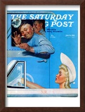 """Two Flirts"" Saturday Evening Post Cover, July 26,1941 Framed Giclee Print by Norman Rockwell"