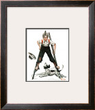 """Boy on Stilts"", October 4,1919 Framed Giclee Print by Norman Rockwell"