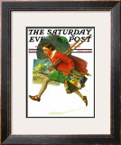 """Wet Paint"" Saturday Evening Post Cover, April 12,1930 Framed Giclee Print by Norman Rockwell"