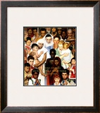 &quot;Golden Rule&quot; (Do unto others), April 1,1961 Framed Giclee Print by Norman Rockwell