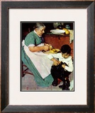 """Down-East  Ambrosia"", March 19,1938 Framed Giclee Print by Norman Rockwell"