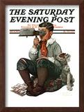 """Stereopticon"" or ""Sphinx"" Saturday Evening Post Cover, January 14,1922 Framed Giclee Print by Norman Rockwell"