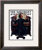 """""""Wedding March"""" Saturday Evening Post Cover, June 23,1928 Framed Giclee Print by Norman Rockwell"""