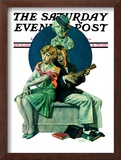 """Serenade"" Saturday Evening Post Cover, September 22,1928 Framed Giclee Print by Norman Rockwell"