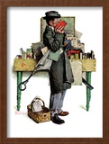 """Bookworm"", August 14,1926 Framed Giclee Print by Norman Rockwell"