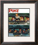 """Outing"" or ""Coming and Going"" Saturday Evening Post Cover, August 30,1947 Framed Giclee Print by Norman Rockwell"
