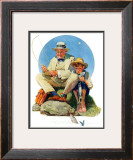 """Catching the Big One"", August 3,1929 Framed Giclee Print by Norman Rockwell"