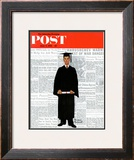 &quot;Graduate&quot; Saturday Evening Post Cover, June 6,1959 Framed Giclee Print by Norman Rockwell