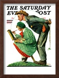 """""""Hayseed Critic"""" Saturday Evening Post Cover, July 21,1928 Framed Giclee Print by Norman Rockwell"""