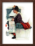 """Airplane Trip"" or ""First Flight"", June 4,1938 Framed Giclee Print by Norman Rockwell"
