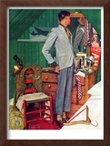 """Imperfect Fit"", December 15,1945 Framed Giclee Print by Norman Rockwell"