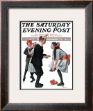 """Pardon Me"" Saturday Evening Post Cover, January 26,1918 Framed Giclee Print by Norman Rockwell"