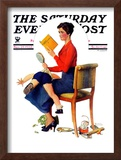 """Child Psychology"" or ""Spanking"" Saturday Evening Post Cover, November 25,1933 Framed Giclee Print by Norman Rockwell"
