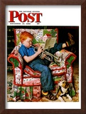 """Trumpeter"" Saturday Evening Post Cover, November 18,1950 Framed Giclee Print by Norman Rockwell"