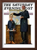 """Schoolmaster"" or ""First in his Class"" Saturday Evening Post Cover, June 26,1926 Framed Giclee Print by Norman Rockwell"