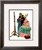 """Dressmaker"", January 31,1931 Framed Giclee Print by Norman Rockwell"