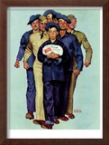 """Willie Gillis' Package from Home"", October 4,1941 Framed Giclee Print by Norman Rockwell"