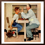 """At the Optometrist"" or ""Eye Doctor"", May 19,1956 Framed Giclee Print by Norman Rockwell"