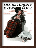 """Ocean Voyage"" Saturday Evening Post Cover, September 8,1923 Framed Giclee Print by Norman Rockwell"