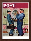 """Plumbers"" Saturday Evening Post Cover, June 2,1951 Framed Giclee Print by Norman Rockwell"