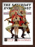 """Three Victorian Musicians"" Saturday Evening Post Cover, December 12,1931 Framed Giclee Print by Norman Rockwell"