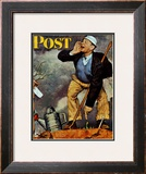 """First Flower"" or ""First Crocus"" Saturday Evening Post Cover, March 22,1947 Framed Giclee Print by Norman Rockwell"