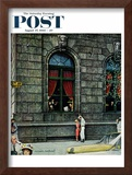 """University Club"" Saturday Evening Post Cover, August 27,1960 Framed Giclee Print by Norman Rockwell"