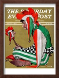 """Jester"" Saturday Evening Post Cover, February 11,1939 Framed Giclee Print by Norman Rockwell"