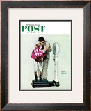 """Jockey Weighing In"" Saturday Evening Post Cover, June 28,1958 Framed Giclee Print by Norman Rockwell"