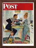 &quot;Dewey v. Truman&quot; Saturday Evening Post Cover, October 30,1948 Framed Giclee Print by Norman Rockwell