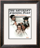 """First Haircut"" Saturday Evening Post Cover, August 10,1918 Framed Giclee Print by Norman Rockwell"