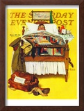 """Willie Gillis Home on Leave"" Saturday Evening Post Cover, November 29,1941 Framed Giclee Print by Norman Rockwell"
