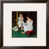 &quot;Girl at the Mirror&quot;, March 6,1954 Framed Giclee Print by Norman Rockwell