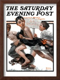 """No Swimming"" Saturday Evening Post Cover, June 4,1921 Framed Giclee Print by Norman Rockwell"