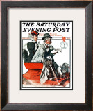 &quot;Speeding Along&quot; Saturday Evening Post Cover, July 19,1924 Framed Giclee Print by Norman Rockwell