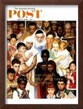 """Golden Rule"" (Do unto others) Saturday Evening Post Cover, April 1,1961 Framed Giclee Print by Norman Rockwell"
