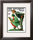 """Hayseed Critic"" Saturday Evening Post Cover, July 21,1928 Framed Giclee Print by Norman Rockwell"