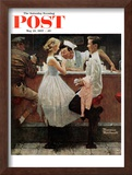 """After the Prom"" Saturday Evening Post Cover, May 25,1957 Framed Giclee Print by Norman Rockwell"