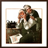 """Wonders of Radio"" or ""Listen, Ma!"", May 20,1922 Framed Giclee Print by Norman Rockwell"
