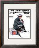 """Man and Dog"" or ""Pals"" Saturday Evening Post Cover, September 27,1924 Framed Giclee Print by Norman Rockwell"