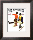"""Thrown from a Horse"" Saturday Evening Post Cover, March 17,1934 Framed Giclee Print by Norman Rockwell"